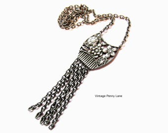 Sarah Coventry Necklace, Vintage Signed Silver Chain