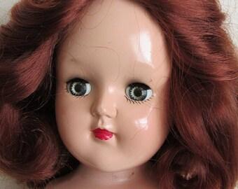 "Ideal P-91 16"" Toni Doll With Gorgeous Auburn Hair"
