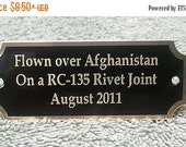 20% OFF Engraved Brass Name Plate, Trophy, Awards,ID Name Tag,Name Tag,BB-1