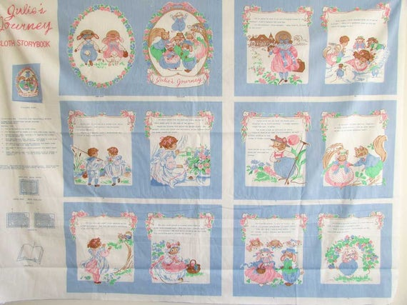 Fabric Book Cover Kit : Julie s journey cloth storybook fabric panel craft kit