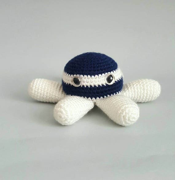 nautical octopus baby boy plush toy