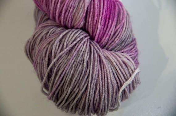 Hand-Dyed Yarn in Hocus Crocus Colourway Sock Yarn Superwash Wool/Nylon Tootsie Base