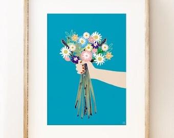 Blooms - floral wall art print