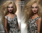 Tibetan Lamb / Mohair hard cap wig for Kingdom Doll -- Summer Sand Blonde -- Laurie Lenz ANGELS Doll Studio