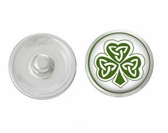 ArtPoppers Snap Charms - Snap Jewelry -  - Gingersnaps Jewelry - Pendants  - Bracelets - Saint Patricks Day -
