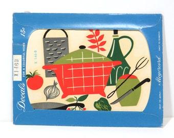 Vintage Meyercord Tranfer Decal Unused, MCM Kitchen Cook Artwork X146B NOS