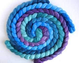 Colorway Collection, Merino/ Silk Roving (Top) - Handpainted Spinning or Felting Fiber, Sweet and Amiable
