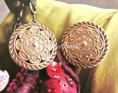 2 Large Retro Vintage Style Gold Golden Crown Military Jacket Coat Sweater Metal Button 1.2 Inches / 3 cm