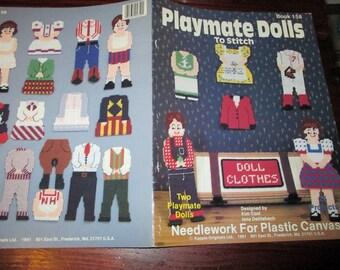 Toy Doll Plastic Canvas Patterns Playmate Dolls Kount on Kappie Book 158 Plastic Canvas Pattern Leaflet