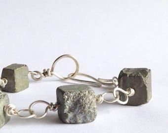 Pyrite Link Bracelet - Fool's Gold Bracelet