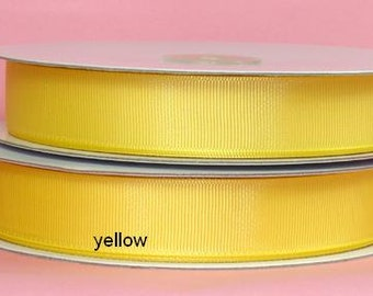 "2-1/4"" x 10 yards Solid Grosgrain Ribbon- YELLOW"