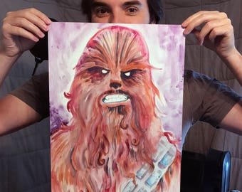 "Chewbacca poster print (18"" x 12"")"