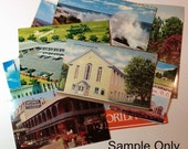 Mystery Lot Unused Postcards Vintage Travel and Scenery USA Different States