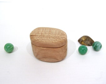 Maple Wooden Box, engagement ring box, ring bearer box, Oregon Coast, proposal box, earring box, eco gift box, guitar pick box, Christmas