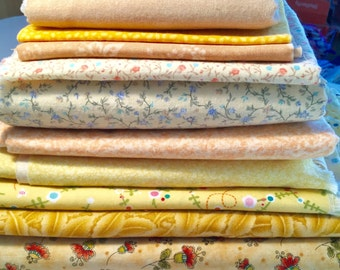 Tans and Yellow Fabric Destash Over 2 Pounds