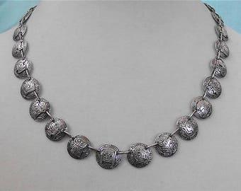"Vintage Silver ""Coin"" Necklace"