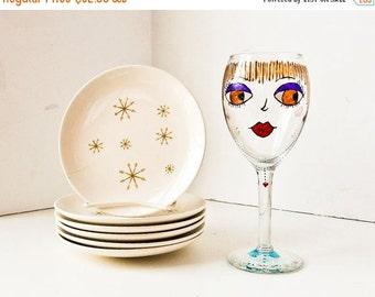 Sale Vintage Appetizer Plates, Snack Plates, Dessert Plates, Ironstone bowls, Star Glow China
