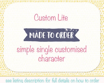 Custom character clip art, my custom lite made to order digital illustration, your own character designed to spec (M04)
