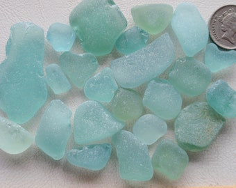 English sea glass colour (CHIPPED) all shades of seafoam  23 pieces for crafts