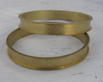 Unfinished Brass Channel Bangle Bracelets Brass 10mm channel opening Bracelet Blank 1511 x1