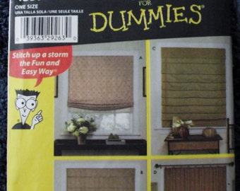 NEW - Simplicity Window Treatments/Shades Patterns - Sewing Patterns For Dummies