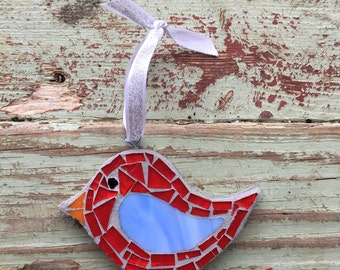 Mosaic  Bird Ornament