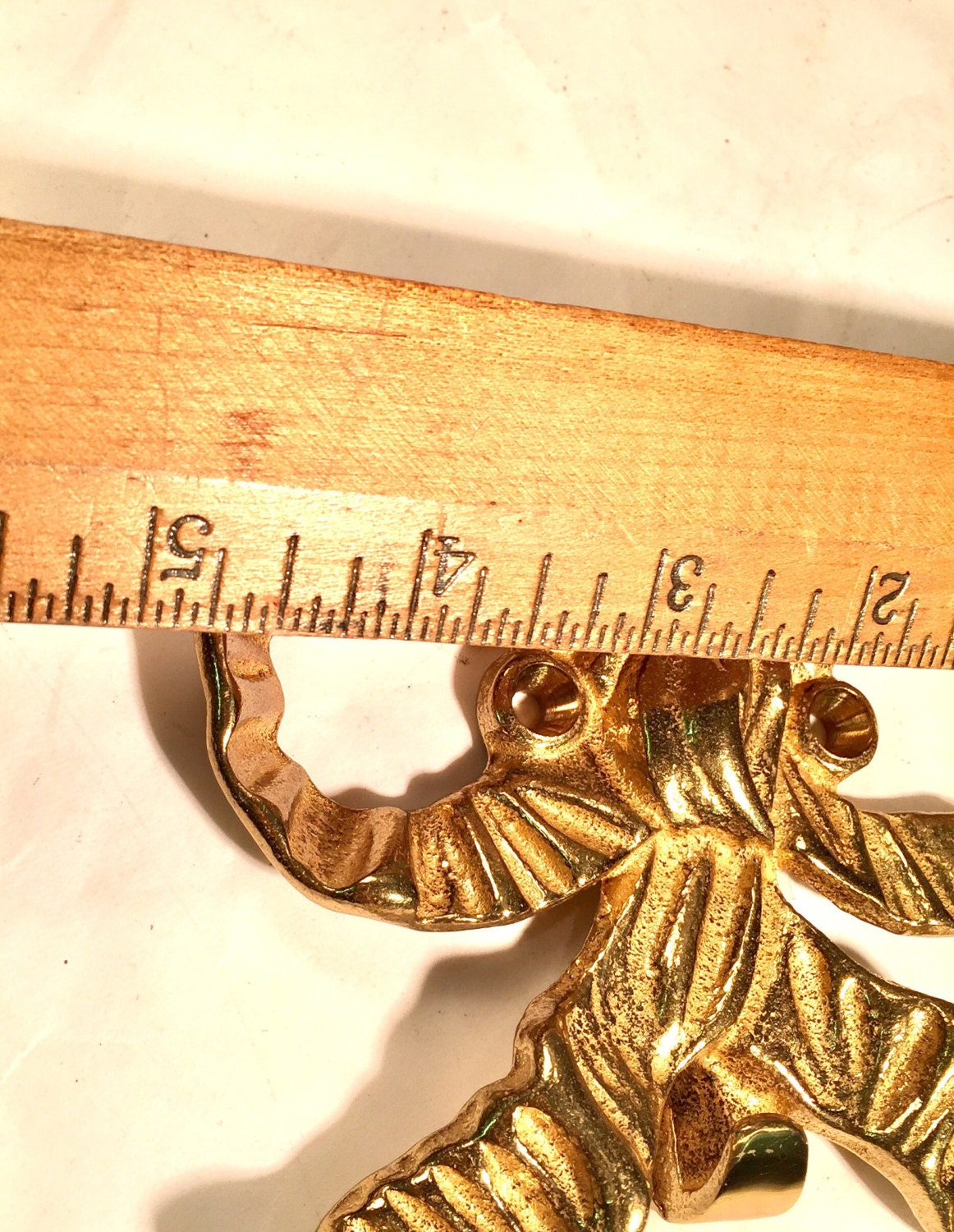 Decor Vintage Brass Bow Decorative Wall or Door Hook Solid Brass ...