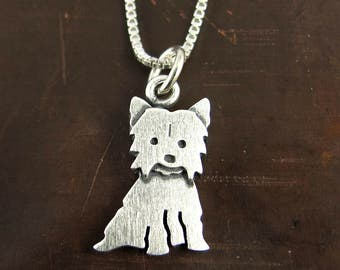 Tiny Yorkie necklace / pendant