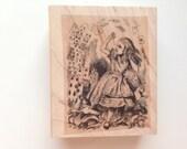 ALICE IN WONDERLAND Wooden Rubber Stamp/Alice Stamps/Wonderland Stamps/Individual Stamps/Rubber Stamps/Wooden Stamps