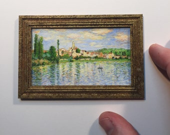 Miniature painting - Monet - Vetheuil in Summer