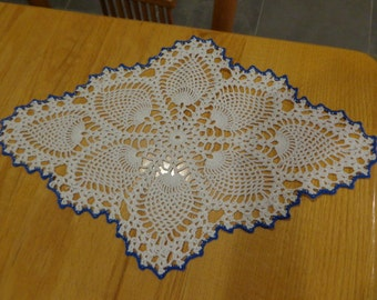 Hand crocheted pineapple doily