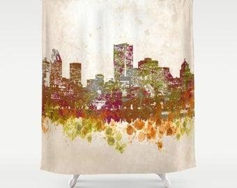 Curtains Ideas cityscape shower curtain : City shower curtain | Etsy