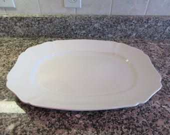 Large white ironstone serving platter- Alfred Meakin (England), ironstone serving, home decor