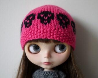 Blythe Hat - Pink Rock n' Roll SKULLS