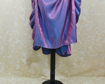 SALE Pink/Purple/Teal Mad Hatter Knee Length Bustle Skirt-One Size Fits All