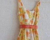 Spring Tea dress {orange bloom} size 16-18