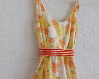 Spring Tea dress {orange bloom} size 16-18