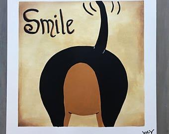 Dachshund Art / Dachshund Painting/ Dachshund  Smile/ Dachshunds/ Dogs Art