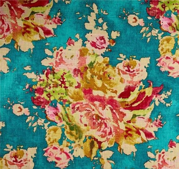 Bright Floral Curtains Caribbean Blue Drapes Deep