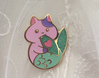 Cat Mermaid Pin Hard Enamel Pin