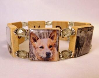 Australian CATTLE DOG Bracelet / SCRABBLE Handmade Jewelry / Dog Lover Gift
