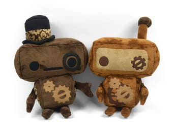 Steampunk Robot Plush Stuffed Animal Toy