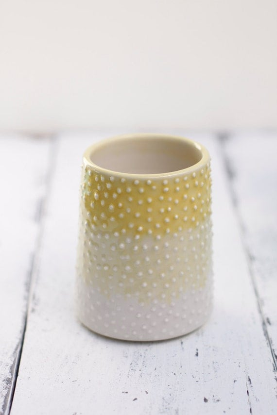 ombre porcelain tumbler with dots