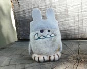Needle Felted Cashmere Wool Easter Bunny Yeti in Disguise Toy