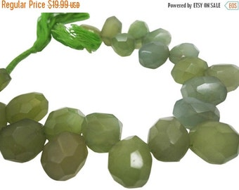 SALE Green Chalcedony Briolettes, Chalcedony Briolettes, Olive Green, SKU 4134A