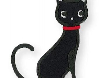208644 black cat iron-on transfer sheet 1 piece