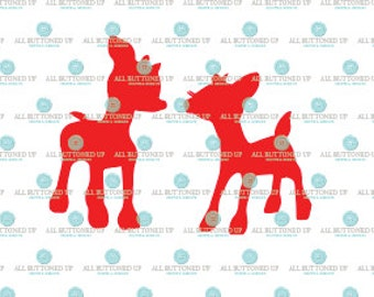 Christmas Rudolph Clarise Reindeer cut file: svg, dxf