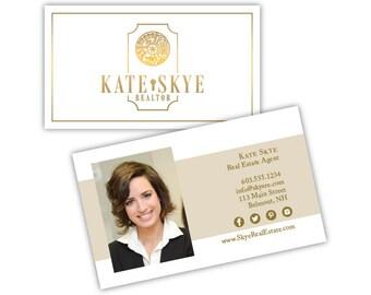 Real Estate Business Card Design - Real Estate Logo - Real Estate Marketing - Real Estate Brand - Printable Business Cards - Custom