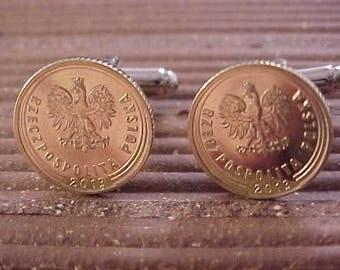 Poland Coin Cuff Links
