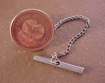 Papua New Guinea Coin Tie Tack
